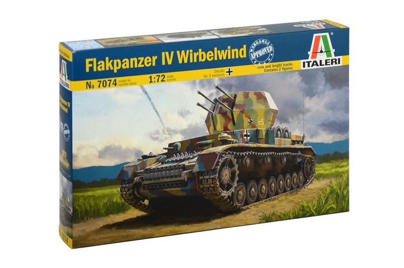 Модель немецкая самоходная ПВО Flakpanzer IV Wirbelwind  масштаб 1/