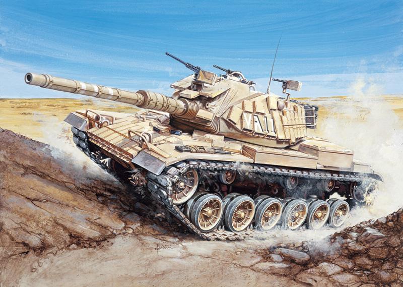 Модель американо--израильский танк MAGACH 6 1/72