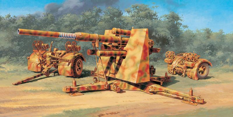 Модель Германская ПВО 8.8 cm FLAK 37. 1/48