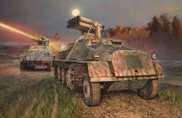 Модель германская самоходная РСЗО 15 cm Panzerwerfer 42 auf sWS