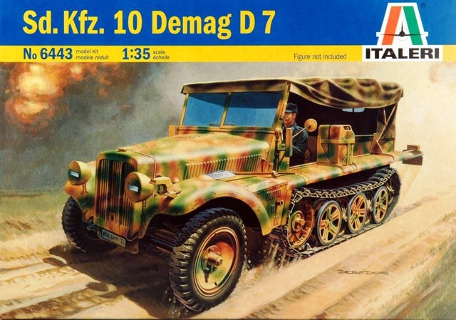 Модель Немецкий полугусеничный БТР Sd.Kfz. 10 Demag D7 с командой д