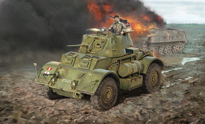 американский бронеавтомобиль Staghound MK.I поздней версии