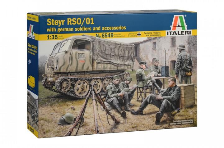 Немецкий бронетранспортер Steyr RSO/01 с солдатами