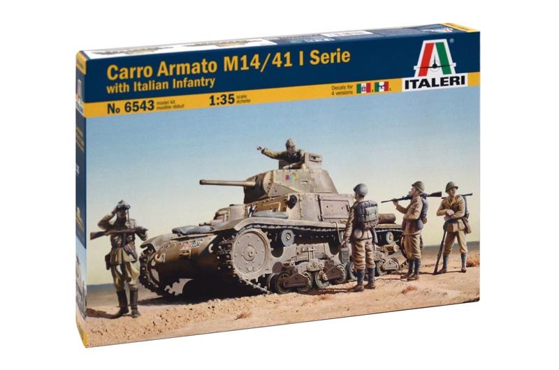 Модель ИТАЛЬЯНСКИЙ ТАНК CARRO ARMATO M14/41 I SERIE С ПЕХОТОЙ 1/35