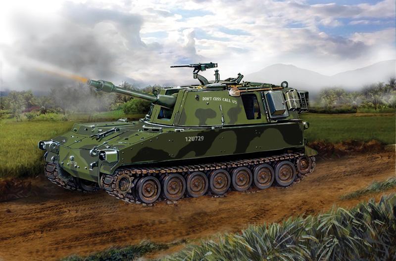 мериканская САУ M108G Масштаб 1/35.