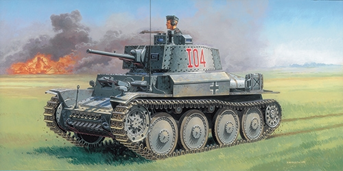Модель Немецкий танк Pz.Kpfw.38(t) Ausf.F 1/35.