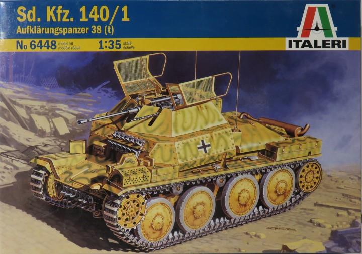 немецкий танк разведки Aufkl?rungspanzer 38(t) Sd.Kfz. 140/1