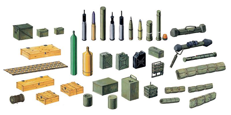 Снаряды и ящики