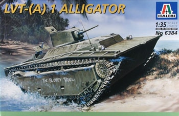 Модель танк-амфибия США LVT- (A) 1 Alligator