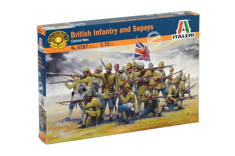 Модель Британская пехота колониальных войн индии с наёмниками-сипая