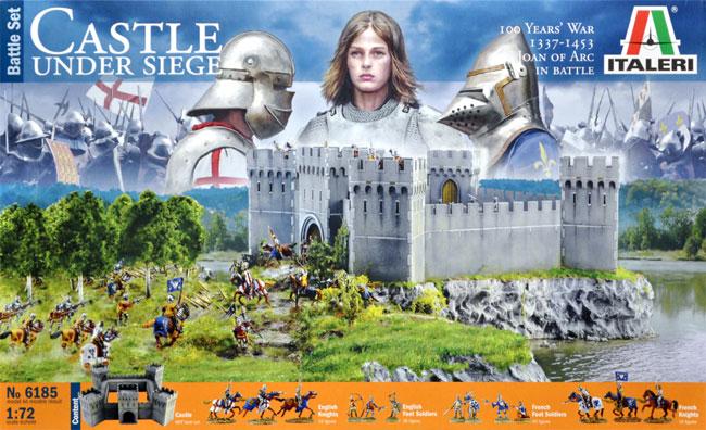 Осада средневекового замка времён столетней войны. Жанна Д'А