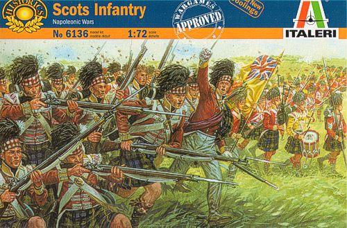 Шотландская пехота времён Наполеоновских войн.
