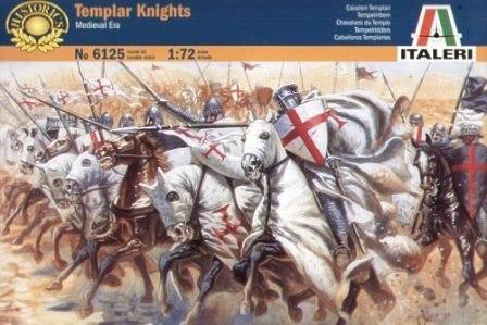 Конные рыцари Тамплиеры Сборная модель