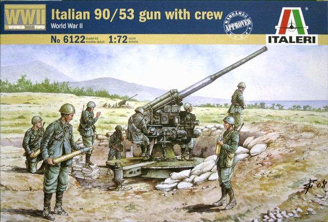 Итальянская Артиллерийская Установка 90/53 с командой Сборная модель