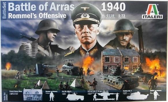 Битва при Аррасе 21 мая 1940г. Наступление Роммеля. Сборная модель