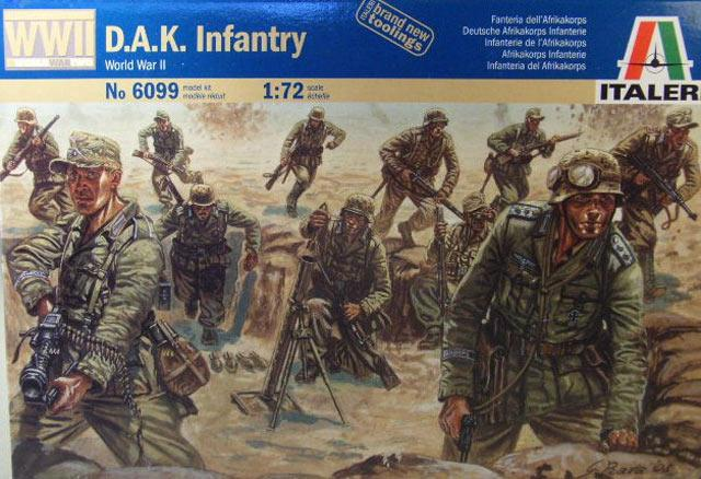 пехота Deutsche Afrika Korps (D.A.K. Infantry) Сборная модель