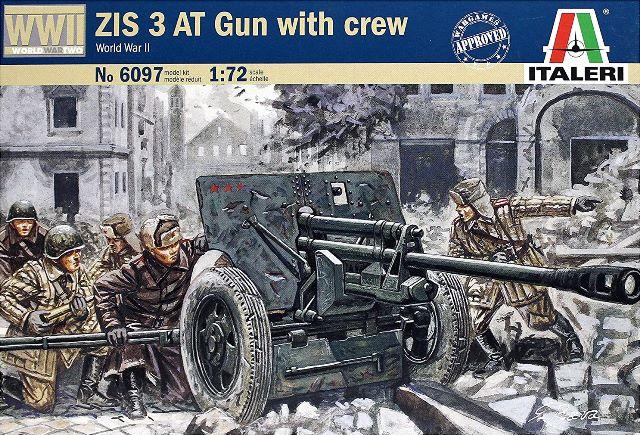 76,2-мм советская противотанковая пушка ЗиС-3 с командой обс Сборная модель
