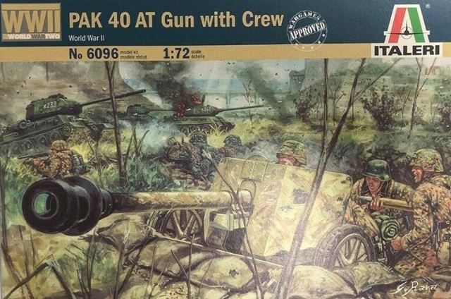 немецкая противотанковая пушка Pak 40 с командой обслуживани Сборная модель