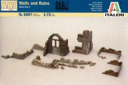 Руины и стены. Вариант №1 Сборная модель