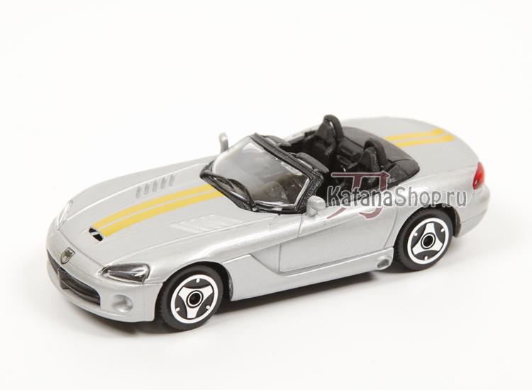 Модель Dodge Viper SRT10 (серебряный металлик и 2 жёлтые полосы)