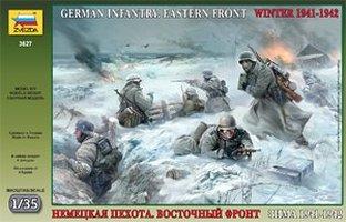 Сборная модель Немецкая пехота в зимней форме