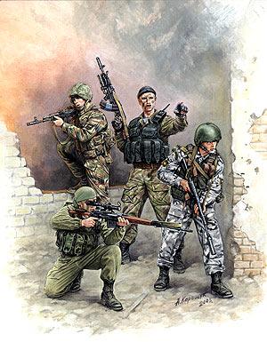 Сборная модель Российский спецназ-1.