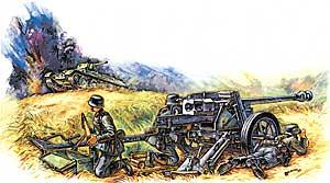Модель Противотанковая пушка ПАК - 40.
