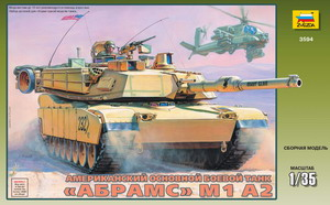 Сборная модель Танк Абрамс М1А2.