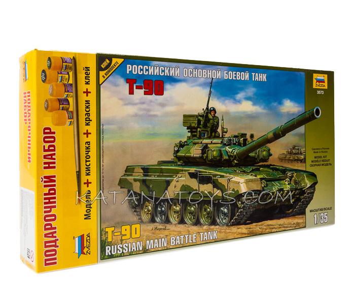 Сборная модель Российский основной боевой танк Т-90