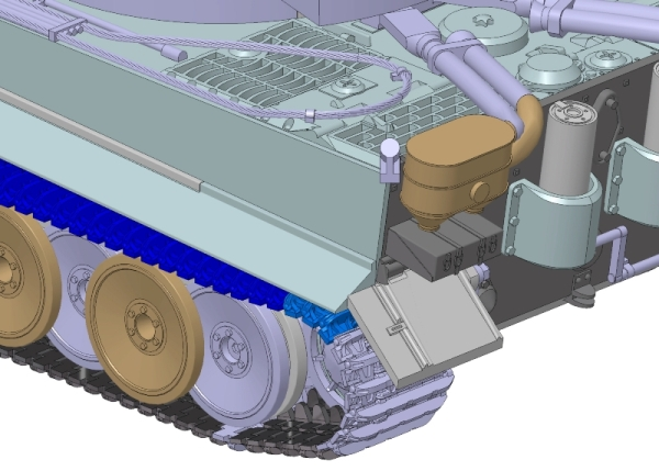 модель - Немецкий тяжелый танк T-VI ТИГР