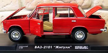 Модель ВАЗ-2101 Жигули (красный)