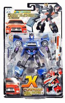 Трансформер робот Mitsubishi Lancer X  (синий)