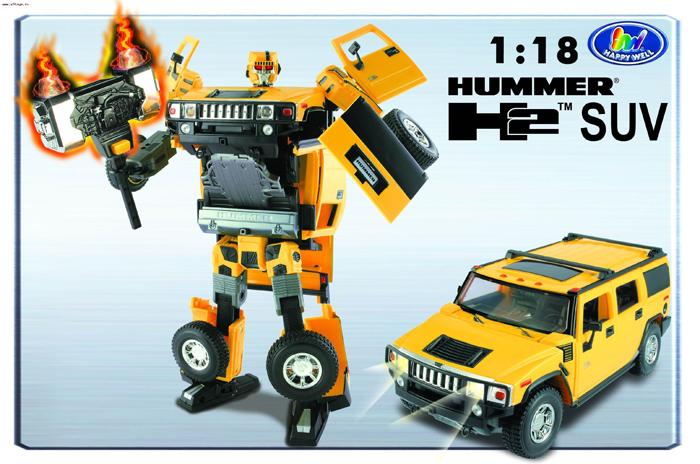 Робот-трансформер Roadbot Hummer H2 SUV (1:18)