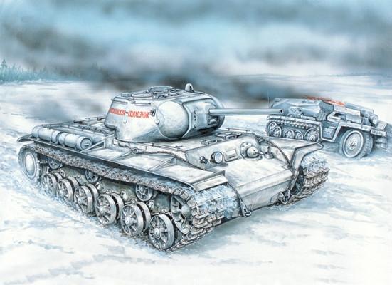Сборная модель КВ-1С KV-1S