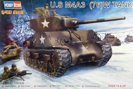 Сборная модель U.S M4A3 (76)W Tank