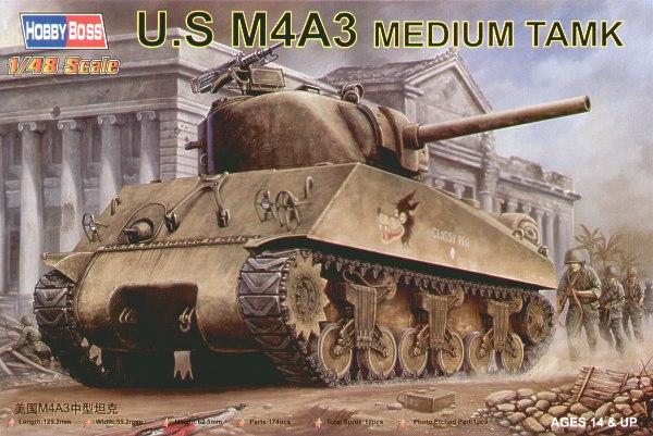 Сборная модель U.S M4A3 Medium Tank