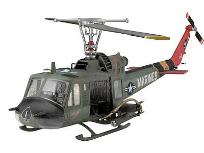Сборная модель Вертолёт Bell UH-1C/B Huey Hog