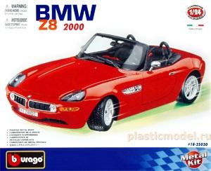 Модель 1:24 сборка А/М BMW Z8 (2000)