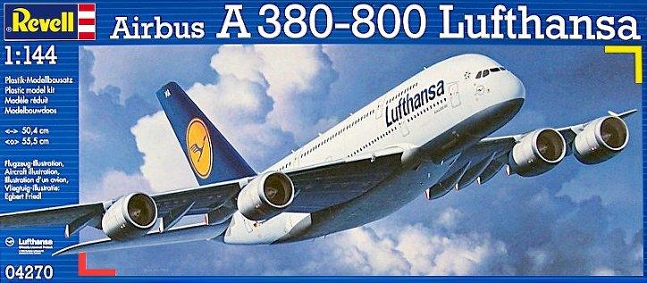 Сборная модель А-380-800 Аэробус A-380 800 Airbus Lufthansa