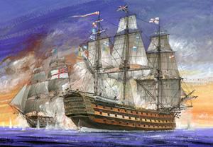 Модель Виктори. Флагманский корабль адмирала Нельсона