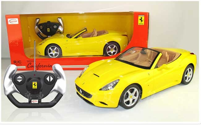 Машина р/у 1:12 Ferrari California (Жёлтая)