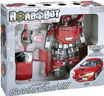 Робот-трансформер MITSUBISHI EVOLUTION VII (1:18 )