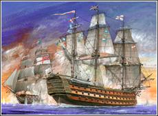 Сборная модель Флагманский корабль адмирала Нельсона Виктори 1/180