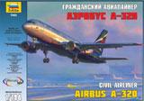 Сборная модель Пассажирский самолет Аэробус А-320