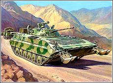 Сборная модель Советская БМП 2Д (Афганская война)