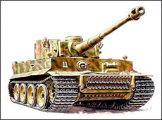 Сборная модель Немецкий тяжёлый танк Т -VI Тигр