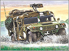 Сборная модель Американский армейский вездеход «Хаммер»