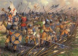 Сборная модель Английская пехота 100-летней войны