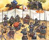 Сборная модель Штаб самурайской феодальной армии