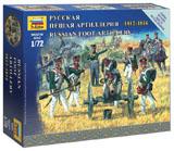 Сборная модель Русская пешая артиллерия 1812-1814